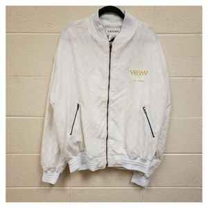 VTG Caesars Palace White Gold Logo Full Zip Jacket
